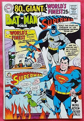 World's Finest 179 DC 80 Page Giant Silver Age 1968 Superman and Batman