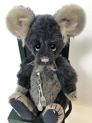 SNAX mouse by Charlie Bears 8.5 inch MOHAIR by Isabelle Lee