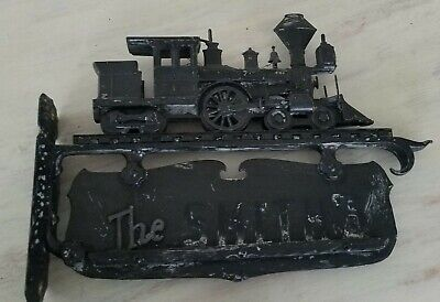 Vintage Metal Name/House Number Sign Vintage Steam TRAIN 20 inches by 13 Inches
