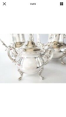 Vintage Towle silver plate coffee, tea, sugar and creamer server set