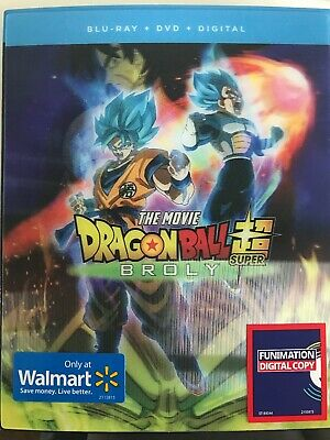 Dragon Ball Super: Broly Movie Blu-ray Walmart Exclusive Lenticular Slipcover