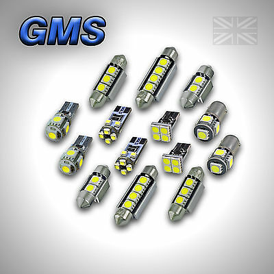 Seat Leon Ii Mk2 Error Free Interior Car Led Light Bulbs Kit - Xenon White