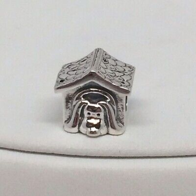 NEW Authentic Sterling Silver Pandora Charm Dog House with Red Enamel 790592EN27