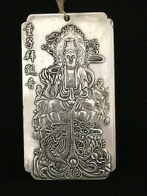 Vintage Chinese Religious  Wall Plaque GUANYIN Buddha East Asian Bodhisattva