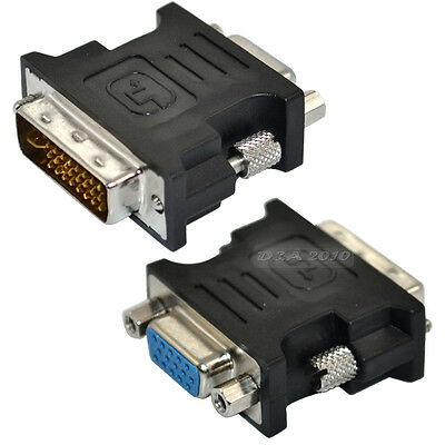 DVI-I male Analog (24+5) to VGA Female (15-pin) Connector Dual Link Adapter