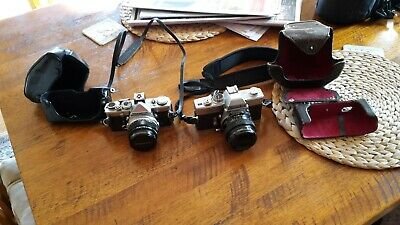 Sold as1 Minolta 101 in good condition and an Olympus Om 1n to be used for parts