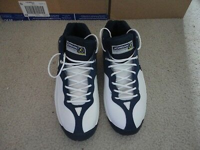 15d6f63e09cc NIKE AIR JORDAN Team Jumpman White Navy Blue 136003-103 00 New ...