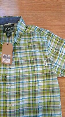 d1ff6e171c7c0d Woolrich NWT (new) Timberline Madras Shirt Classic Fit Short Sleeve For Men
