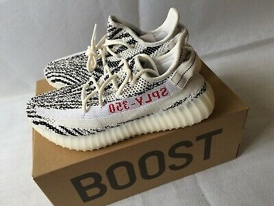 65a19aafe NWB ADIDAS YEEZY Boost 350 V2 ZEBRA White Black Red CP9654 Men s ...
