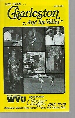 g2  Vintage 1991 CHARLESTON WV Guide & WVU Classic Berry Hills Country Club GOLF