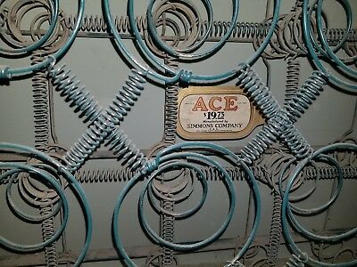 Vintage Green Simmons Ace Steel Metal Coil 3/4 Size Box Springs LOCAL P/U ONLY