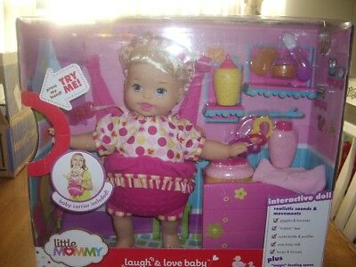 New Little Mommy Laugh and Love Baby Doll Sealed Interactive