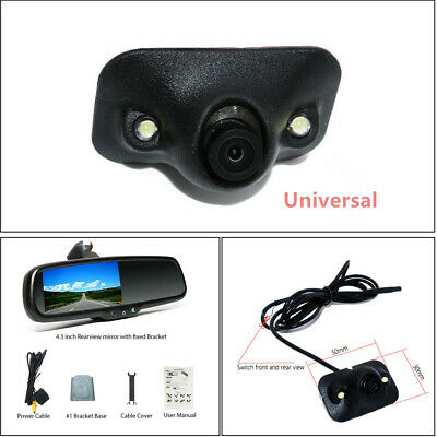 14mm Auto Dimming TFT LCD Rear View Mirror Monitor w/ Rear Camera Night Vision