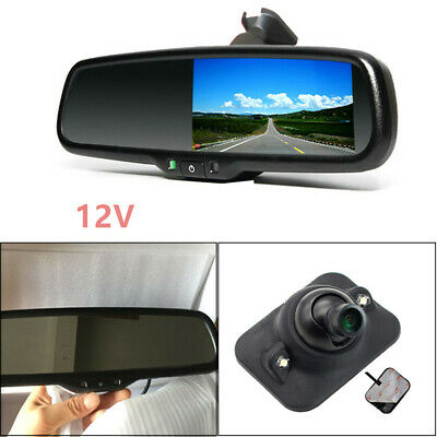 170 Degrees Auto TFT LCD Rear View Mirror Monitor w/ Rear Camera Night Vision