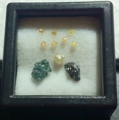 Rough Natural Uncut Africa Raw Mixed Diamond Lot (10 Loose) 1Ct!!!  L10