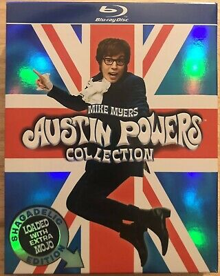 Mike Myers Austin Powers Collection Blu Ray 3 Disc Set + Slipbox Shagadelic Edit