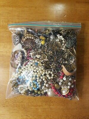 Huge Lot Of Broken Junk Drawer Jewelry Over 5 Pounds