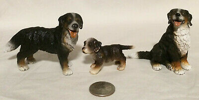 Schleich BERNESE MOUNTAIN DOG FAMILY Male Female Puppy Figures Retired