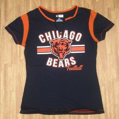 4c649c77 NEW WOMENS NFL Apparel Chicago Bears Blue Orange Synthetic Football ...
