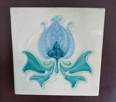 "Original  English  Art Nouveau tile , c1905 6""x6""Tile ref 973"
