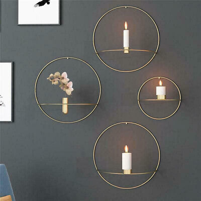 Mental 3D Andlestick Wall Mounted Candle Holder Geometric Tea Light Home Decor
