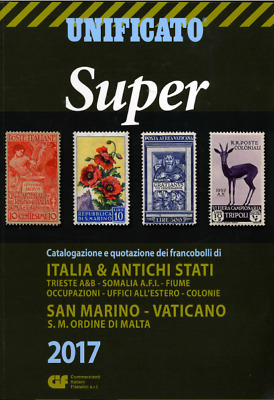 From UNIFICATO SUPER 2017 Italian postage stamp catalog & Bonuses (All on DVD)
