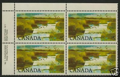 Canada 937 TL Block Plate 1 MNH Point Pelee National Park