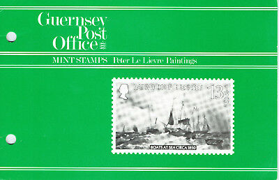 Guernsey 1980 Peter Le Havre Paintings Post Office Pack - Complete Set - MUH