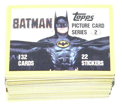 . 1989 Topps BATMAN MOVIE series 2 - 132 cards, no stickers
