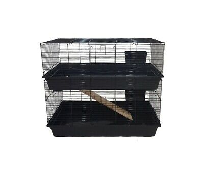 Two Storey Large Rabbit Guinea pig Indoor Cage
