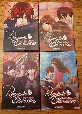MANGA : lot de 4 mangas - Romantic Obsession - AIKAWA Saki - VF