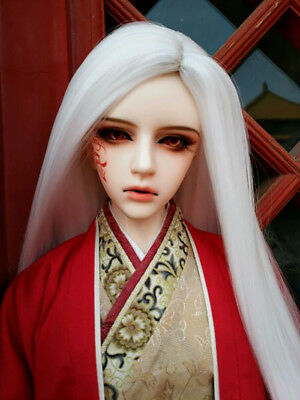 "7-8/"" 1//4 BJD Long Straight Light Red Brown Wig LUTS Doll SD DZ DOD MSD Hair UAL#"