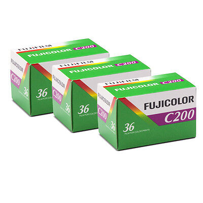 Fujifilm Fujicolor C200 35mm Color Print Film 36 Exp Fuji 3 Rolls / Date 2021