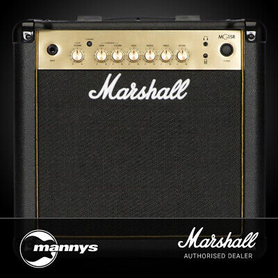 Marshall MG15GR MG Gold Series 15W Guitar Amplifier Combo w/ Reverb
