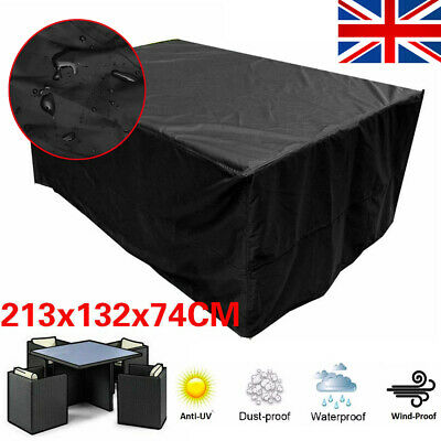 Extra Large Garden Rattan Outdoor Furniture Cover Patio Table Protection Black U