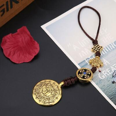 Ancient Hand Carved Chinese Taiji-Bagua Lucky Amulet Pendant Necklace Decor Gift