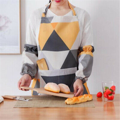 Women Men Kitchen Sleeveless Apron Chef Barbecue Cooking Baking Catering CB