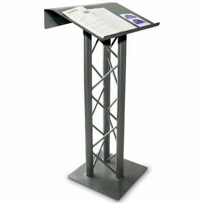 Opti-Kinetics Premier Truss Lectern Stand in Natural Aluminium 200 Series