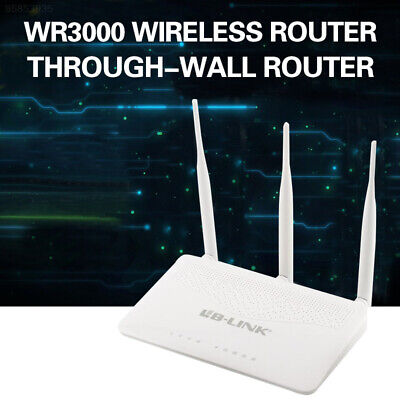 07CA Blink WR3000 300Mbps 4 Port Wireless Router 3×5dBi Antenna stable new good