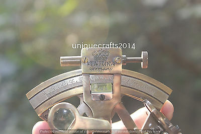 """Antique Style Brass Sextant Maritime Ship Navigation Astrolabe Gift 3""""."""