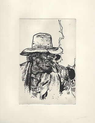 Intaglio Etch hand print reproduction from Lieutenant Blueberry Jean Giraud