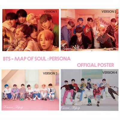 Bts 방탄소년단 Map Of Soul :Persona - Select Folded /Unfolded Poster Ver. 1 /2 /3 /4