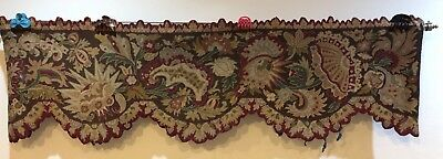 Antique French Valance Or Door Top Cross Stitch Hand Embroidery 50 X 170 Cm