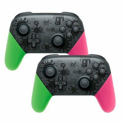 2x Wireless Bluetooth Pro Controller Gamepad Splatoon für Nintendo Switch