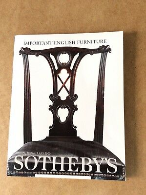IMPORTANT ENGLISH FURNITURE ~Sotheby's catalogue of auction 7July 2000, London