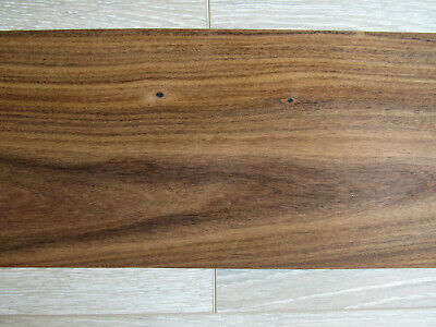 "Santos rosewood wood veneer, 1 sheet ~16.9 x 8.26"" (43 x 21cm), 0.6mm (~1/42″)"