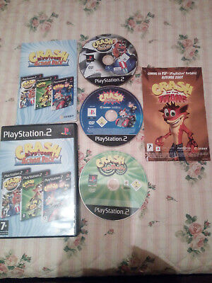 Crash Bandicoot Action Pack  Ps2 Pal,,3 Giochi In 3 Cd!!