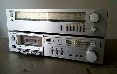 SONY Tape Deck TC K33 and Tuner ST-242S