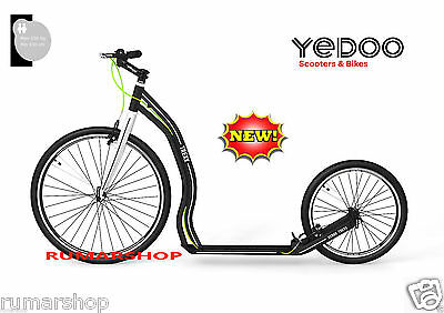 AMAZING 7.9 kg YEDOO ALLOY SCOOTER ROLLER STEP NEW NEU TREXX 26/20 black