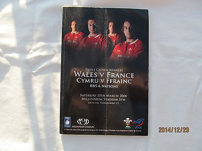 Wales v France. Rugby Union. Wales Grand Slam. 2008.